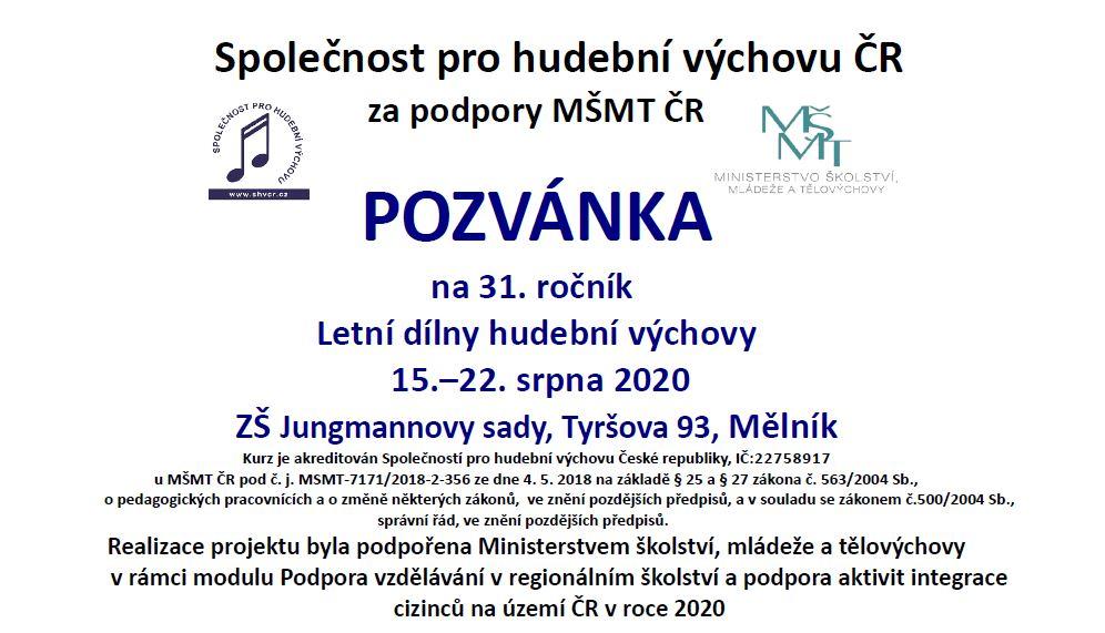 Pozvánka na 31. LDHV 2020